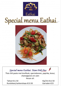 Special Menu Eathai Nam Prik Pao 2019